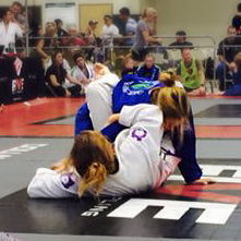 Going for a kimura from guard