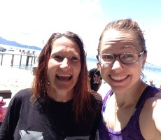 Suzi and me post-beach workout